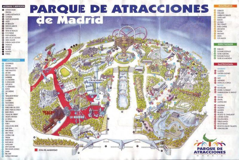 mapa antiguo Parque Atracciones Madrid