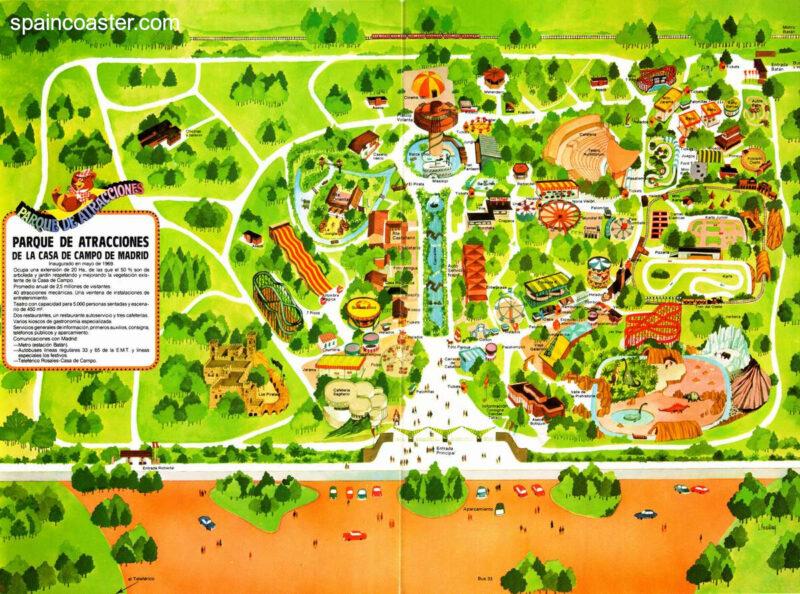 Plano 1986 Parque Atracciones Madrid