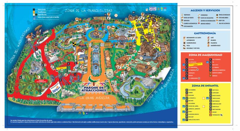 Plano 2006 Parque Atracciones Madrid