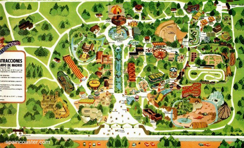 Plano antiguo Parque Atracciones Madrid
