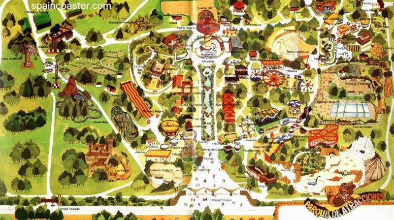Plano 1991 Parque Atracciones Madrid
