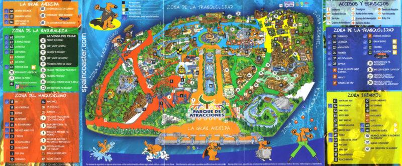 Plano 2003 Parque Atracciones Madrid