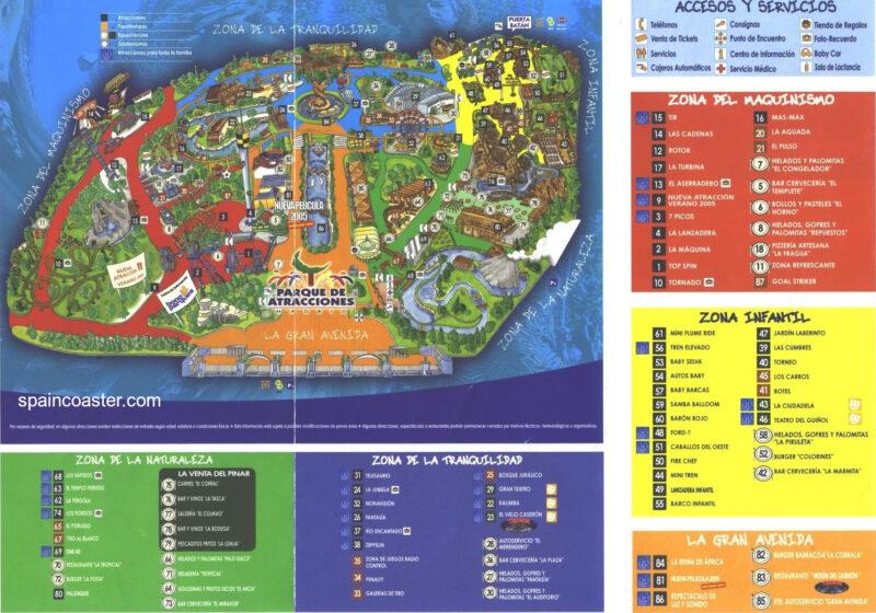 Plano 2005 Parque Atracciones Madrid