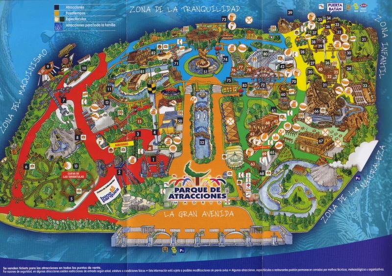 Plano 2007 Parque Atracciones Madrid