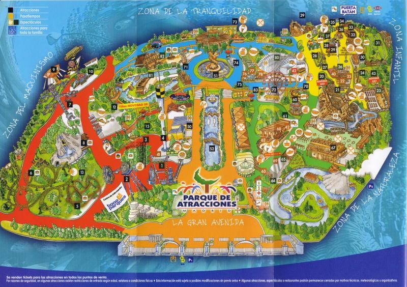 Plano 2008 Parque Atracciones Madrid